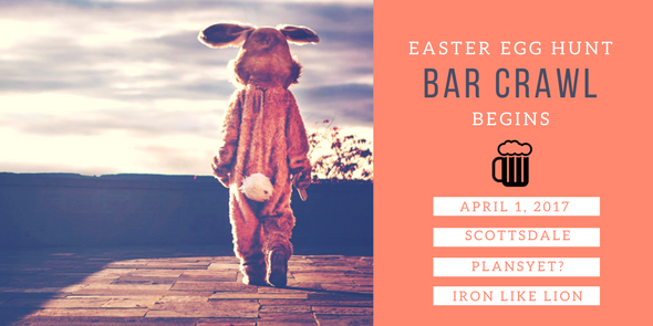 easter egg hunt bar crawl